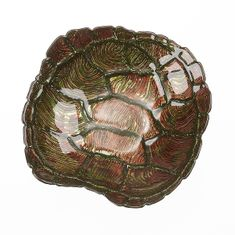 Sea Turtle bowl green brown color