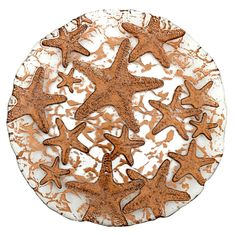 "Sea Star 8.5"" Bronze Plate Set of 2"