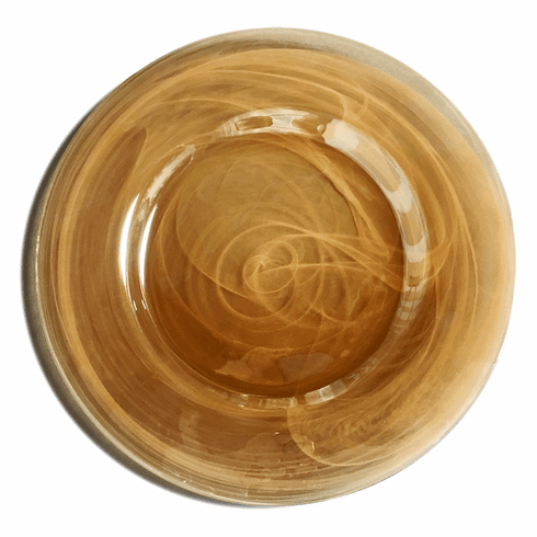 Set/4 ALABASTER 13in Amber Charger Plate