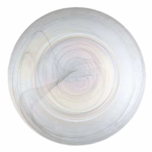Set/4 ALABASTER 13in Pearl Charger Plate