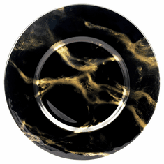 "Set/4 THASSOS 13"" Black Marble Charger Plates"