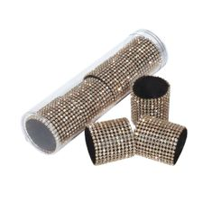 Set of 4 Gold Rhinestone Napkin rings