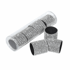Set of 4 Rhinestone Wide Band Napkin Rings