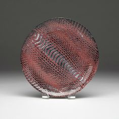 "Snakeskin canape plate 6.5"" Cognac and silver  SEE OTHER SIZES"