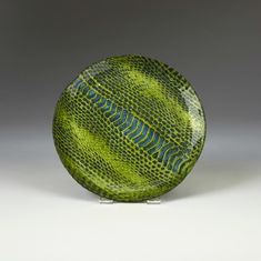 "Snakeskin Canape plate 6.5"" Emerald and Blue  SEE OTHER SIZES"