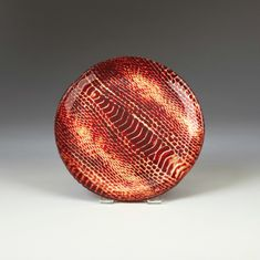 "Snakeskin Salad Plate 8.5"" Red gold"