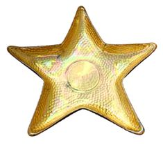 "Starfish 10"" Gold Luster Plate"