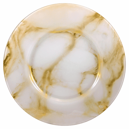 "THASSOS 13"" White Marble Charger Plate"