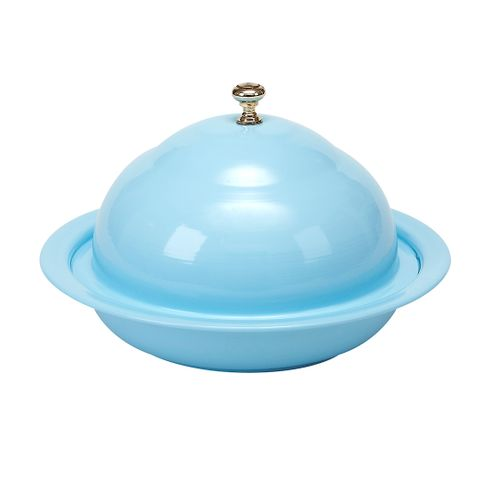 "Vento 8.25"" Blue Covered Bowl"