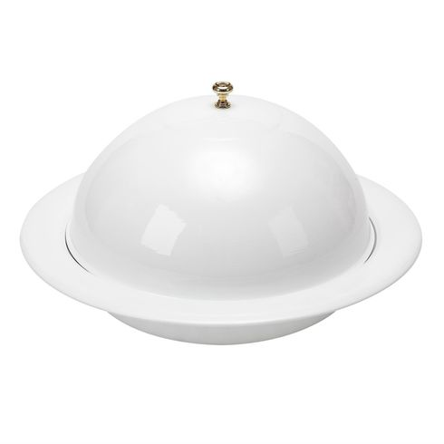 "Vento 13"" Covered Bowl White"