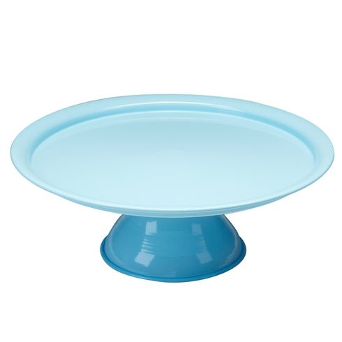 Vento Footed Cake Plate Blue