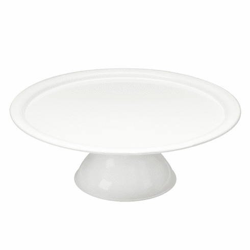 Vento Footed Cake Plate White