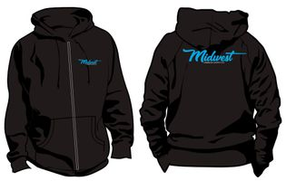 Midwest Airbrush Supply Co. - Independent Trading Co. - Midweight Full-Zip Hooded Sweatshirt - Xtra Large