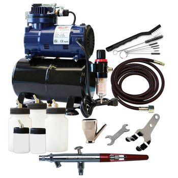 Paasche MIL Airbrush Set with D3000R Compressor