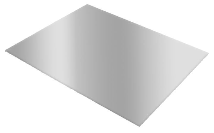 "ACM Aluminum Panel 12"" x 18"" - Brushed Silver"