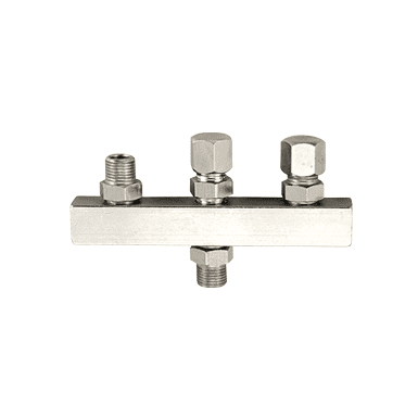 """Sparmax Airbrush Manifold 1/8""""M INLET - 3 x 1/4""""M OUTLET"""