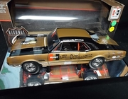 """Highway61 50089  --    1966 Hurst """"Hairy"""" Oldsmobile   1:18  ( box is in tact but has white paint overspray all over it)"""