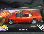 HotWheels 25618    -- C5 Corvette   / Custom Candy-Red Paint  1:18