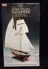 "Lindberg 70852     --     The Armed Schooner ""Sandpiper"" War of 1812 Privateer  /   13 inches long"