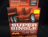 Moebius 1017     --    'Super Single'  Tractor Chrome Wheel & Tire Set  includes 2 Front Wheels and 4 Rear Wheels    1:25
