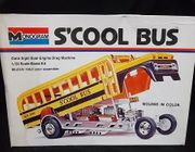 Monogram 8290     --   S'cool Bus Outa-Sight Dual Engine Drag Machine  /  1973 Release    1:24