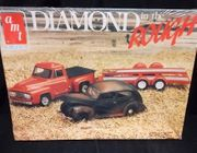 "AMT 6545      --      ""Diamond in the Rough""   1953 Ford Pickup 3'n1,  1940 Ford,  Car Trailer & Service Tools   1:25"