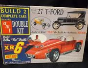 AMT 2127     --     Double Kit / Build 2 Complete Cars / 1927 T-Ford (Tub or Stock) and the XR6 Experimental Roadster   1:25