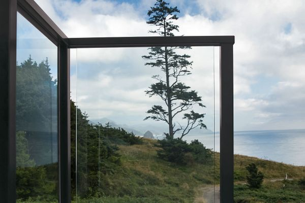 Bronze Glass Railing for Deck in Seaside, OR