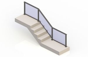 Bronze eGlass Solid™ System - Stair Transition