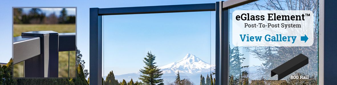 Bronze Glass Railing System in White Salmon, WA