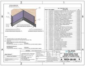 eGlass Element&trade; System Drawings <br> Fascia Mount