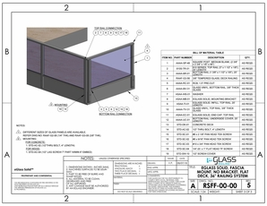 eGlass Solid&trade; System Drawings <br> Fascia Mount w/o Brackets