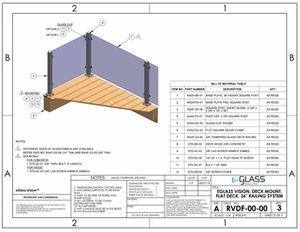 eGlass Vision&trade; System Drawings <br> Deck Mount