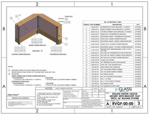 eGlass Vision&trade; System Drawings <br> Fascia Mount