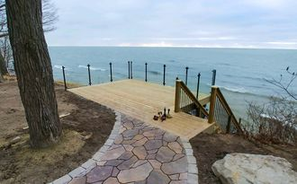 Black Aluminum Glass Railing - Holland, MI