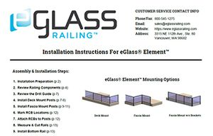 Glass Railing Installation Instructions