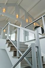 Silver Solid Glass Railing - Lincoln City, OR