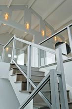 Silver Aluminum Glass Railing - Lincoln City, OR