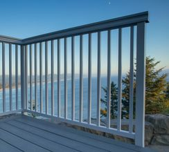Silver Aluminum Picket Railing - Manzanita, OR