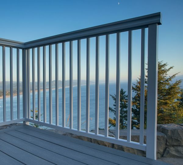 Glass Railing in Manzanita, OR