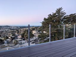 Silver Aluminum Glass Railing - San Francisco, CA