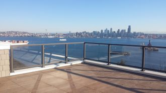 Bronze Aluminum Glass Railing - Seattle, WA