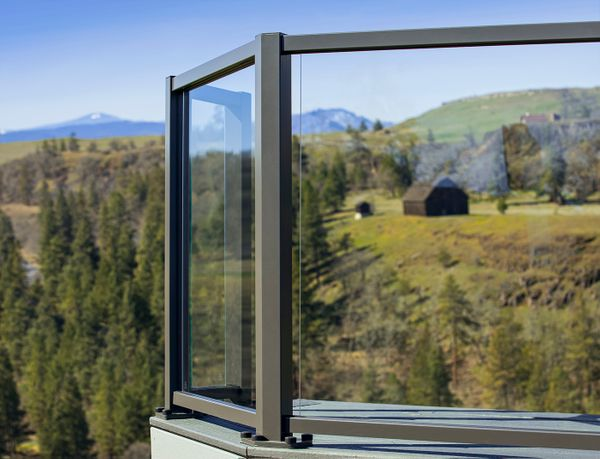 Glass Railing System in The Dalles, Rowena, OR