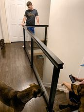 indoor stair glass railing