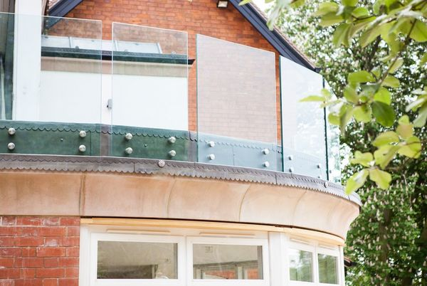 Standoff Structural Glass System for Residential Deck