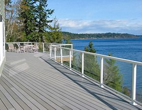 White Aluminum Glass Railing - Kirkland, WA