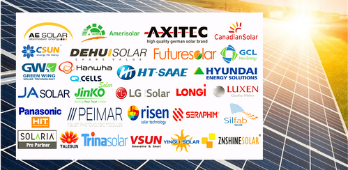 Tier 1 brand solar modules - Yingli, Jinko, Future Solar, Longi, Axitec shipping worldwide