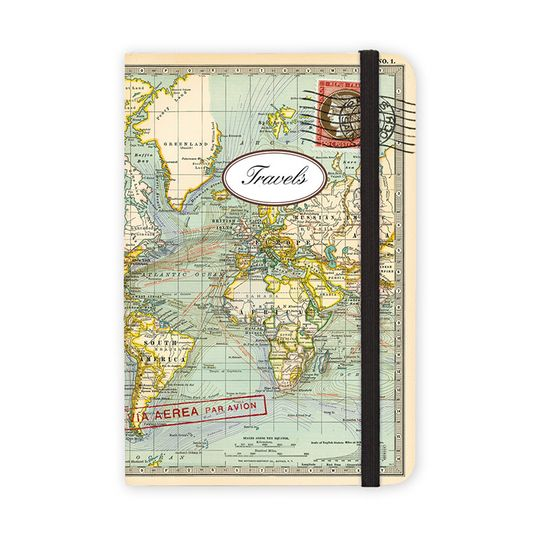 Cavallini World Map Pocket Notebook (4 x 6)