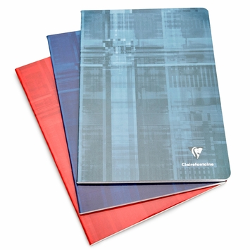 Clairefontaine Classic A4 Side Staple Bound Notebook (8.25 x 11.75) in French Ruled (lined pages) [63161]