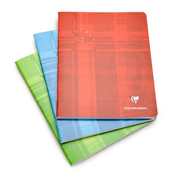 Clairefontaine Classic Large Side Staple Bound Notebook (6.5 x 8.25) Ruled W/Margin (lined pages) [383]